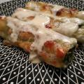 Cannellonis aux épinards, sauce gorgonzola