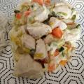 Poulet aux légumes façon blanquette